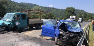 sudar kamion automobili zenica